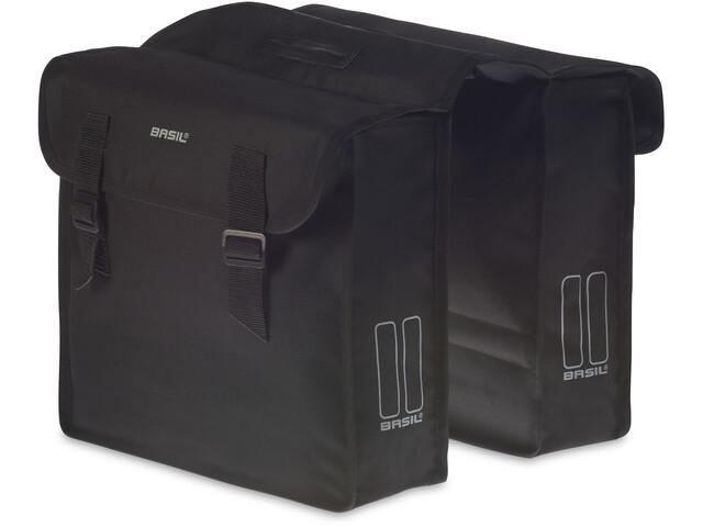 Basil Mara Double Pannier Bag, black